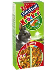 Vitakraft Dwergkonijnkracker Groente/Thym 2 in 1
