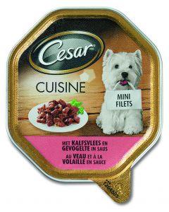 Cesar Hond 150 Gr Cuisine Kalf/Kalkoen In Saus