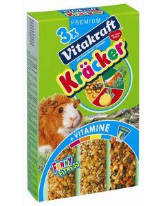 Vitakraft Caviakracker Honing / Groente / Citrus 3 in 1