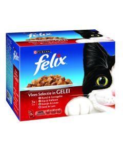 Felix Pouch Vlees selectie 12x100 GR