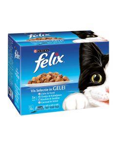 Felix Pouch Vis Selectie 12x100 gr