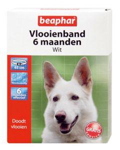 Beaphar Hond 65 Cm Vlooienband Wit