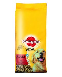 Pedigree Vital Adult met Rundvlees 15 KG