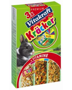 Vitakraft Dwergkonijnenkracker Multivit / Groente / Popcorn 3 in 1