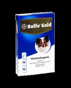 Bolfo Hond 4 Pipet Gold 40 < 4kg