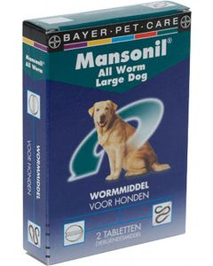 Mansonil Hond 2 Tab All Worm < 35kg