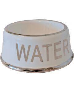 Drinkbak Wit/Zilver Water 18 cm