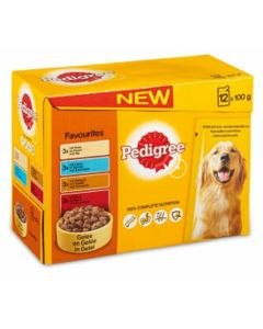 Pedigree Hond 12x100 Gr Adult Favourits Multipack