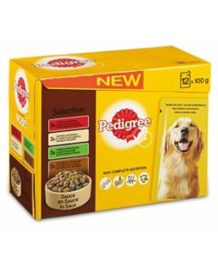 Pedigree Hond 12x100 Gr Adult Selection Multipack