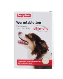 Beaphar Hond 4 Wormtabletten All-In-one < 40kg