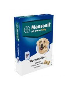 Mansonil All Worm Dog 2 tabletten
