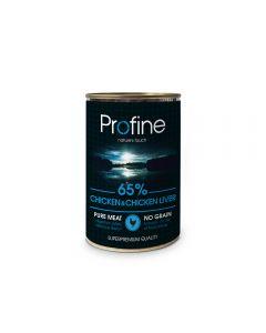 Profine Blik 65% Chicken/Chicken Liver 400g