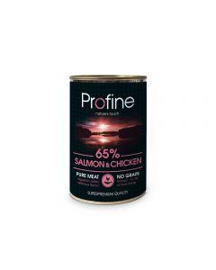 Profine Blik 65% Salmon & Chicken 400g