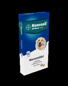 Mansonil Hond 6 Tab All Worm Tasty Bone