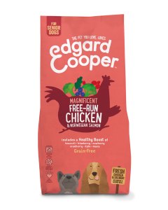 Edgard & Cooper   Verse Scharrelkip & Noorse Zalm Brok   Voor senior honden   Hondenvoer   7kg