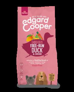 Edgard & Cooper   Verse Scharreleend & Kip Brok   Voor puppy's   Hondenvoer   12kg