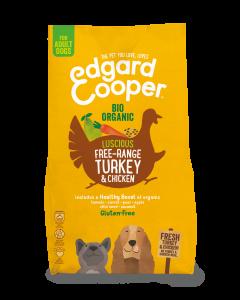 Edgard & Cooper | Verse Biokalkoen & Biokip (vrije uitloop) Brok | Voor volwassen honden | Hondenvoer |