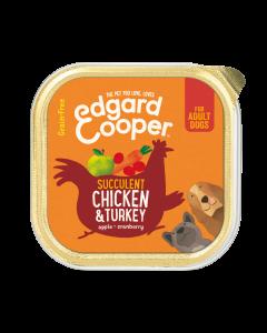 Edgard & Cooper | Kip & Kalkoen Kuipje | Voor volwassen honden | Hondenvoer | 150g