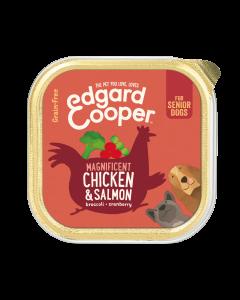 Edgard & Cooper | Kip & Zalm Kuipje | Voor senior honden | Hondenvoer | 150g