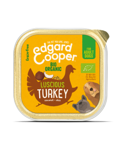 Edgard & Cooper | Biologische Kalkoen Kuipje | Voor volwassen honden | Hondenvoer | 100g
