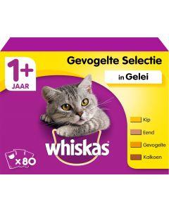Whiskas Kat Pouch Gevogelte In Gelei 80 Pack