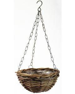 Hanging Planter Rattan Grey 30cm