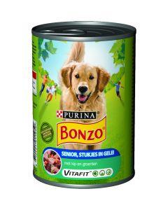 Bonzo Senior Vlees in Gelei 400 gr