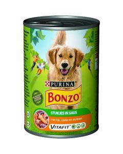Bonzo Kip, Pasta en Wortelen in Saus 400 gr
