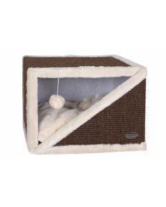 Krabhuis Cube S Ivoor/Bruin 40cm