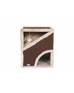 Krabhuis Cube L Ivoor/Bruin 50cm