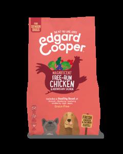 Edgard & Cooper | Verse scharrelkip & Noorse zalm Brok | Voor senior honden | Hondenvoer |