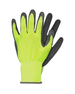 Werkhandschoenen M Latex Geel