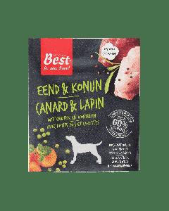 Best for your Friend Hond gestoomde maaltijd eend/konijn, 395 gram