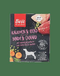 Best for your Friend Hond gestoomde maaltijd kalkoen/eend, 395 gram