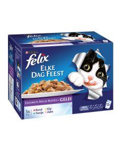 Felix Pouch Elke Dag Feest Mix 12x100 gr